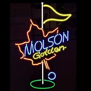 Molson Canadian Golden Golf Neon Sign 24