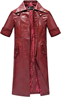 NSOKing Devil May Cry 4 Dante Trench Leather Jacket Coat Cosplay Costume
