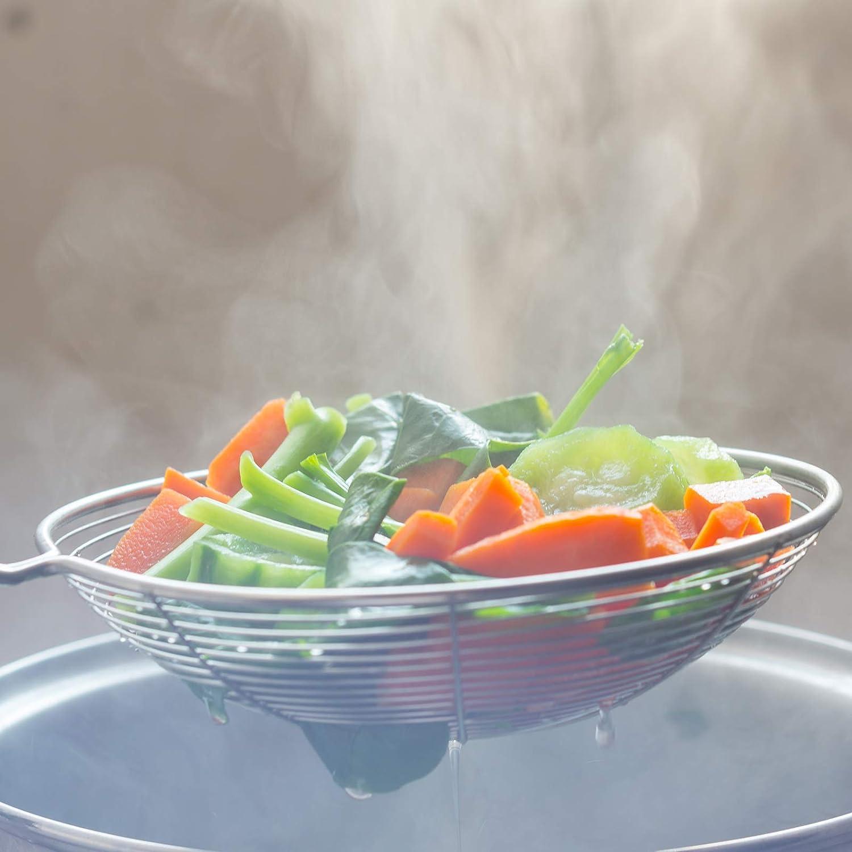 Setaccio Skimmer in acciaio inox 304 spaghetti pasta patatine fritte cucchiaio scanalato frittura scolapasta cucchiaio mestolo per cucina