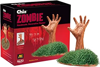Chia Pet Zombie - Restless Arm with Seed Pack, Decorative Pottery Planter, Easy to Do and Fun to Grow, Novelty Gift, Perfect for Any Occasion