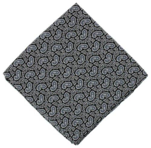 Michelsons of London Mouchoir noir Petit Paisley Silk de