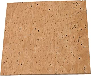 12x11x0.2cm Wood Color Oboe Natural Cork Sheet for Wind Instruments Accessories