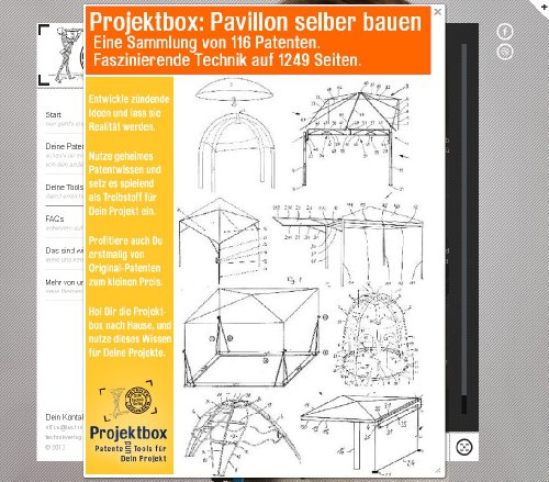 Pavillon selber bauen: Deine Projektbox inkl. 116 Original-Patenten bringt Dich mit Spaß ans Ziel!