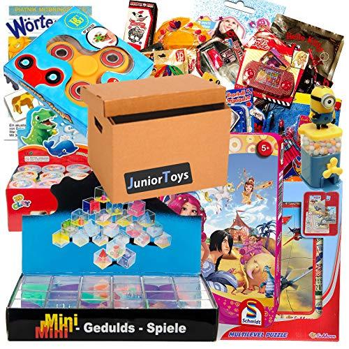 JuniorToys Spielwaren und Lizenzartikel Ideal als Wurfmaterial für Karneval, Tombola oder Mitgebsel für den Kindergeburtstag (TOMBOLA mit 50 Artikeln)