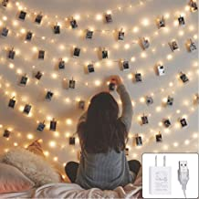 Twinkle Star 200 LED 66ft Fairy Copper String Lights USB and Adapter Powered with 9 Modes & Timer, Home Lighting Decor for Indoor Outdoor Bedroom Wall Patio, Warm White