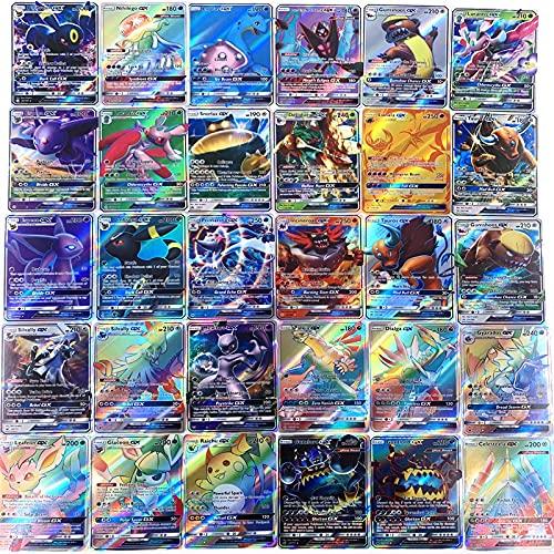 Pokemon Card Shiny 300 Non-Répétition Pokemon Gx Card Jeu de Cartes Battle Point Card Trading Game Jouets pour Enfants