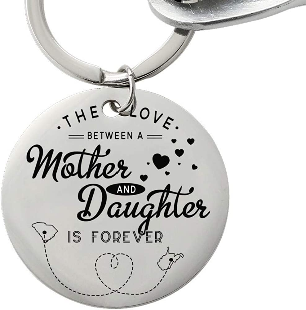 Mother Daughter Detroit Mall Keychain From - Quantity limited The Love Between Moth A