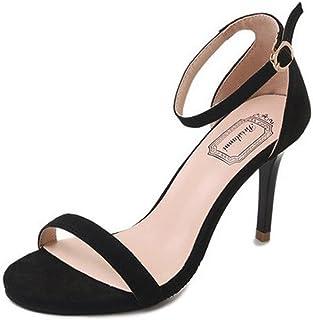 45512598 Sandalias de Verano, Dragon868 Moda Mujeres Sandalias Tobillo Tacones Altos  Bloque Abierto Toe Zapatos de
