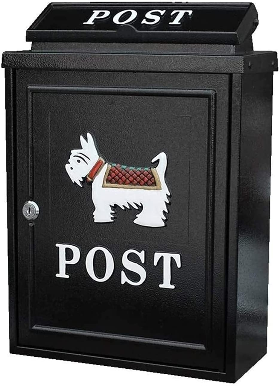 KANULAN Max 43% OFF Mailbox Classic Wall Mount Outdoor G Lockable