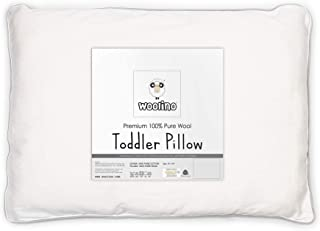 Wool Toddler Pillow, All Natural Kids Pillow, Machine Washable, Oeko TEX 100 Certified, 14