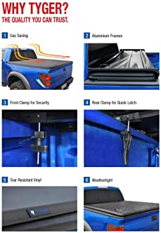"Tyger Auto Black Top T3 Soft Tri-Fold Truck Tonneau Cover for 2015-2020 Chevy Colorado/GMC Canyon Fleetside 5'2"" Bed ..."