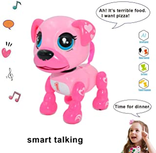 amdohai Interactive Puppy - Smart Pet, Electronic Robot Dog Toys for Age 3 4 5 6 7 8 Year Old Girls, Gifts Idea for Kids ● Voice Control&Intelligent Talking (Pink)