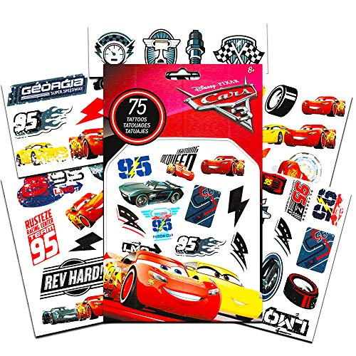 Disney Cars Temporary Tattoos Party Favor Set (50 Temporary Tattoos)
