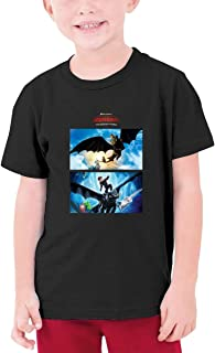 HuoFengDing How to Train Your Dragon 3 Hiccup and Night Fury Tee Customized Short-Sleeve Tshirts for Infant Black