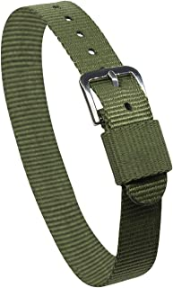 14mm Slip through nylon strap Green