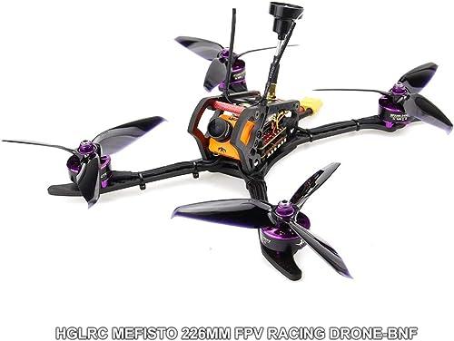 Ballylelly-RC-Drohne HGLRC 2306 4-5S Mefisto 226mm Kohlefaser-Radstand FPV-RC-Drohne Quadcopter BNF mit Frsky XM + F4 Betaflight OSD