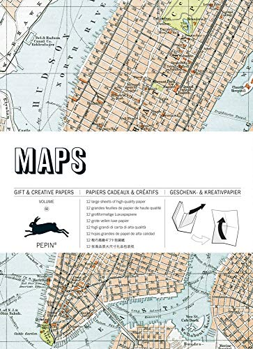 Maps: Gift & Creative Paper Book Vol.60 (Multilingual Edition) (English, Spanish, French and German Edition)
