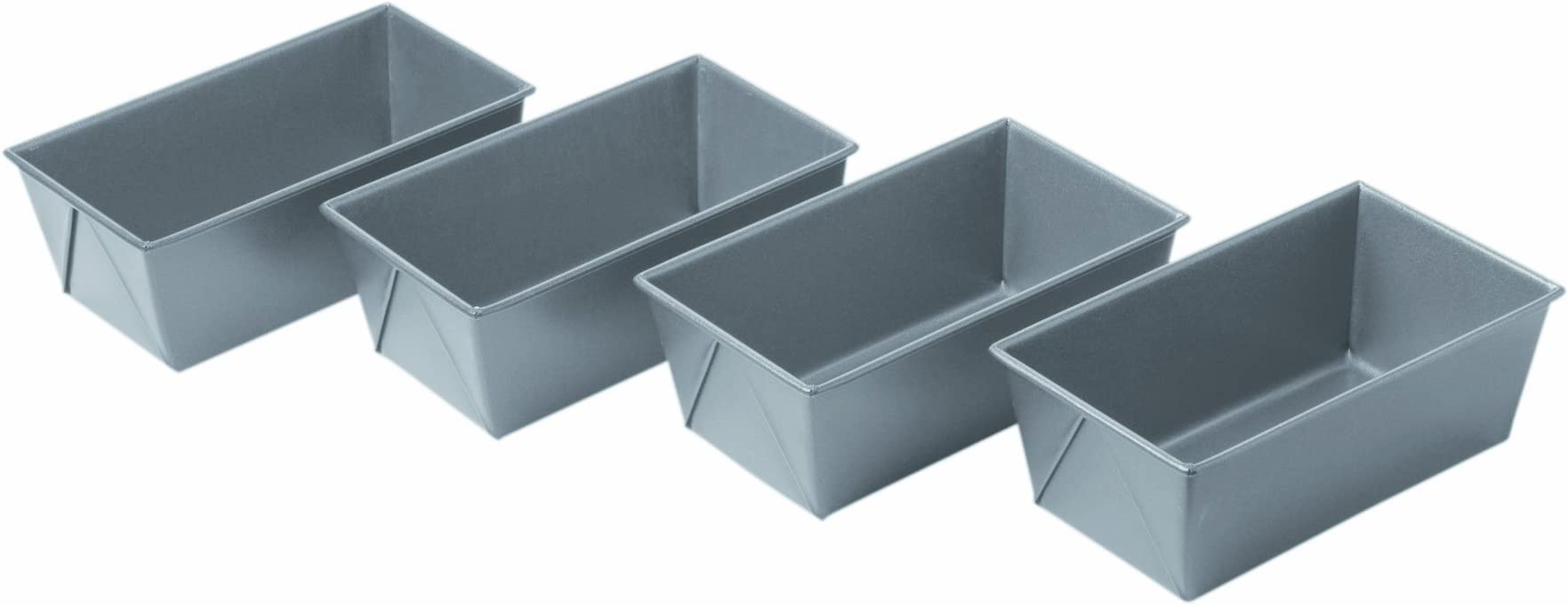 Chicago Metallic Commercial II Non-Stick Mini Loaf Pans, 5-3/4 by 3-1/4 by 2-1/4-Inch, Multicolor