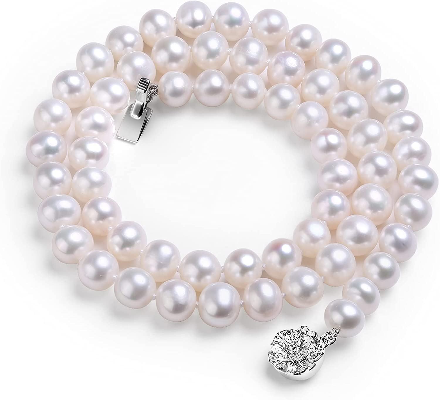 White Don't Recommendation miss the campaign Freshwater Cultured Real Pearls Sterling S Choker Necklace