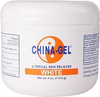 China-Gel Pain Relieving Rub 4 oz Jar White