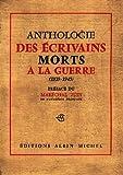 Anthologie des écrivains morts à la guerre de 39-45