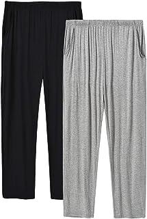 JINSH Men's Pajama Pants Pockets Modal PJ Pajama Bottoms Sleepwear Homewear Lounge Pants