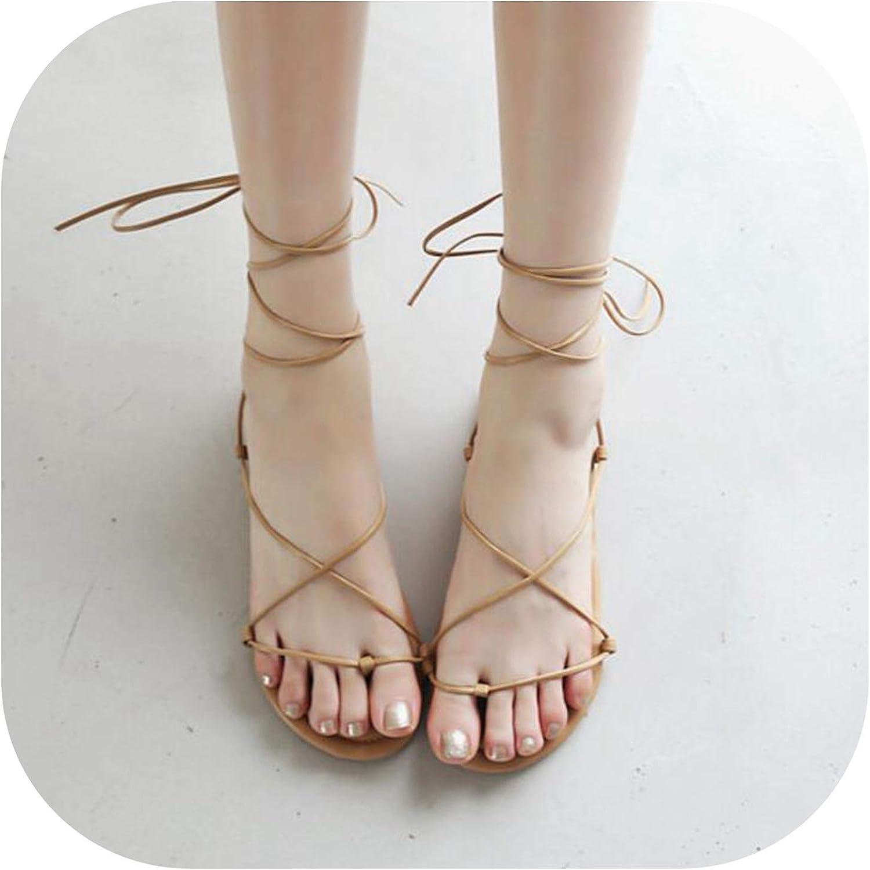 Meiguiyuan 2019 Roman Sandals Temperament Cross Strap shoes Fashion Black Brown Silver Women's shoes