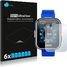savvies Protector Pantalla Compatible con Vtech Kidizoom Smart Watch DX2 (6 Unidades) Pelicula Ultra Transparente