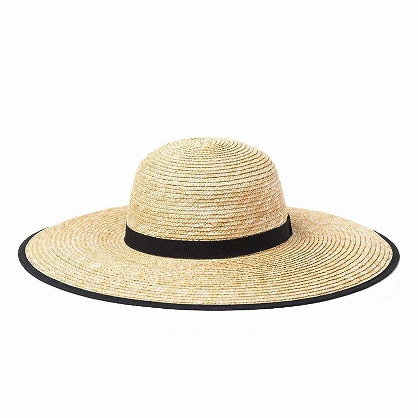 麦わら帽子に沿って春と夏のドームエッジング屋外観光日焼け止めサンシェードビーチ麦わら帽子に沿って