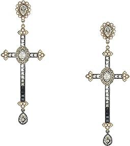 Millennium Cross Pierced Earrings