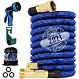 200 ft Expandable Garden Hose,2021 Upgraded Lightweight Expanding Hose,Strongest Flexible Water Hose ,10 Functions Sprayer with Double Latex Core, 3/4' Solid Brass Fittings, Extra Strength Fabric