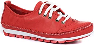 Pavers Trainers for Women   Leather Casual Sporty Design with Lace Up Fastening   Lightweight & Flexible Sole   Cushioned ...