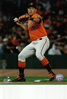 Jae-Gyun Hwang San Francisco Giants unsigned 8x10 photo (Orange Jersey)