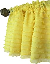 A Vision to Remember Bright Yellow Sheer Ruffle Valance Extra Wide Window Treatment
