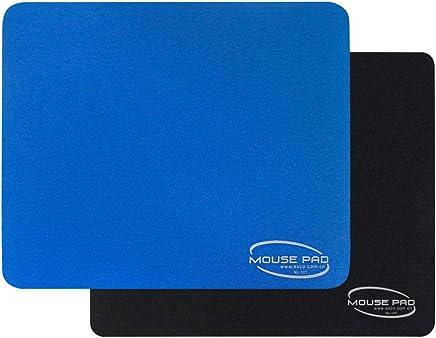 Alfombrilla de ratón negra y azul para juegos Superficie lisa de una gran alfombra de goma antideslizante (juego B-2pcs)