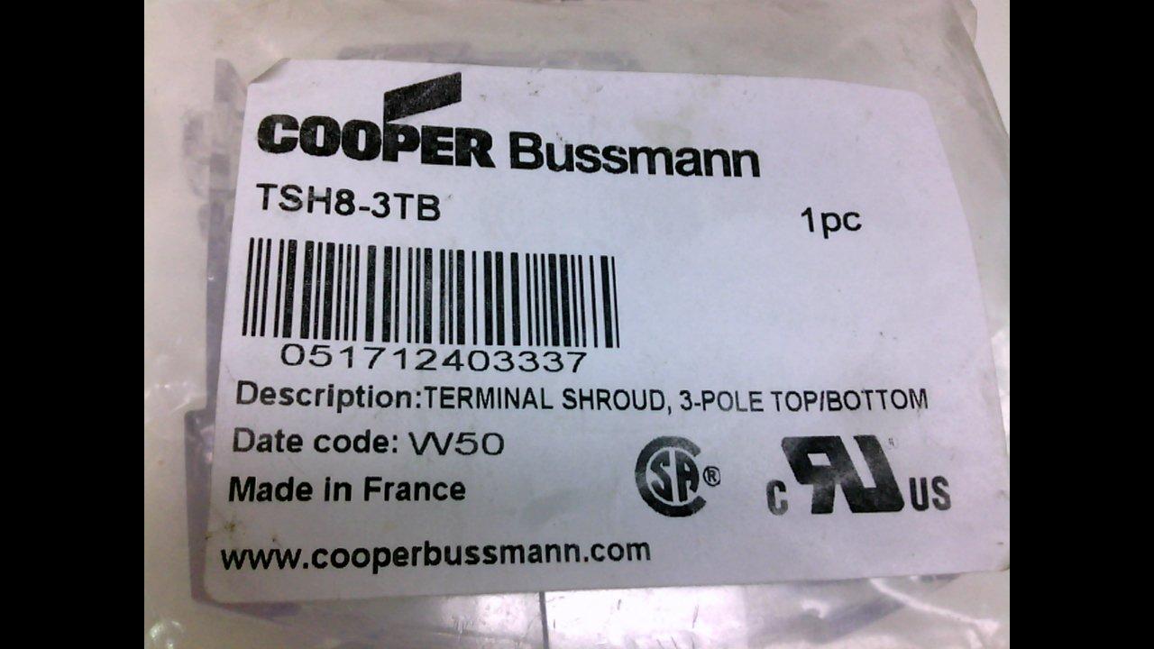 Cooper Free shipping on posting reviews Bussmann TSH8-3TB Special sale item Shroud UL98 3 Amp 200 Fused Poles