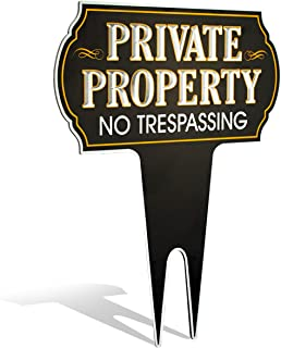 Metal Yard Sign Private Property No Trespassing Sign | Protect Your Home | Safety & Privacy Warning Sign 15