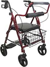 Karman Healthcare R-4602-T-BD Aluminum 2-in-1 Rollator/Transport, Burgundy, 8