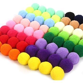 Pompons 30 mm 13 Farben zur Auswahl Beutel à 6 Stück