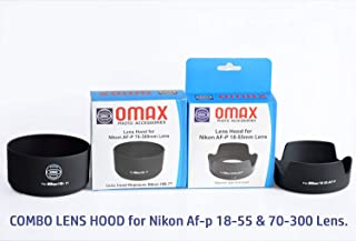 Omax lens hood for nikon af-p 18-55mm & nikon 70-300mm lens combo offer (bayonet type)