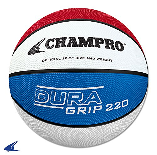 Save %5 Now! CHAMPRO Dura Grip 220 Intermediate Basketball Red White Blue, Size 28.5 (BB46SWR)