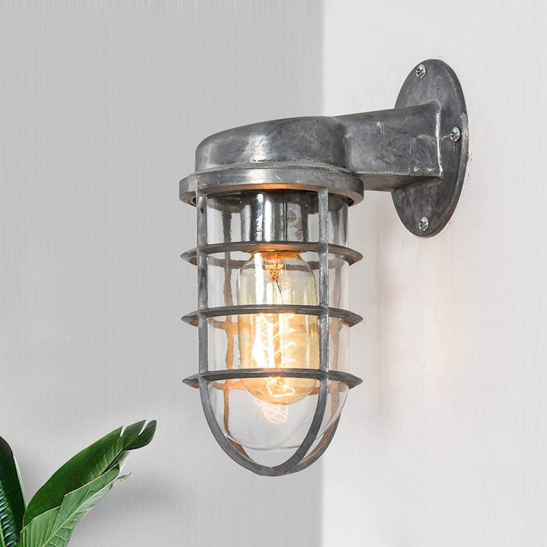 CKH Retro Industrial Art Beleuchtung Restaurant Wohnzimmer Kleidung Shop Hohlglas Eisen Wandleuchte