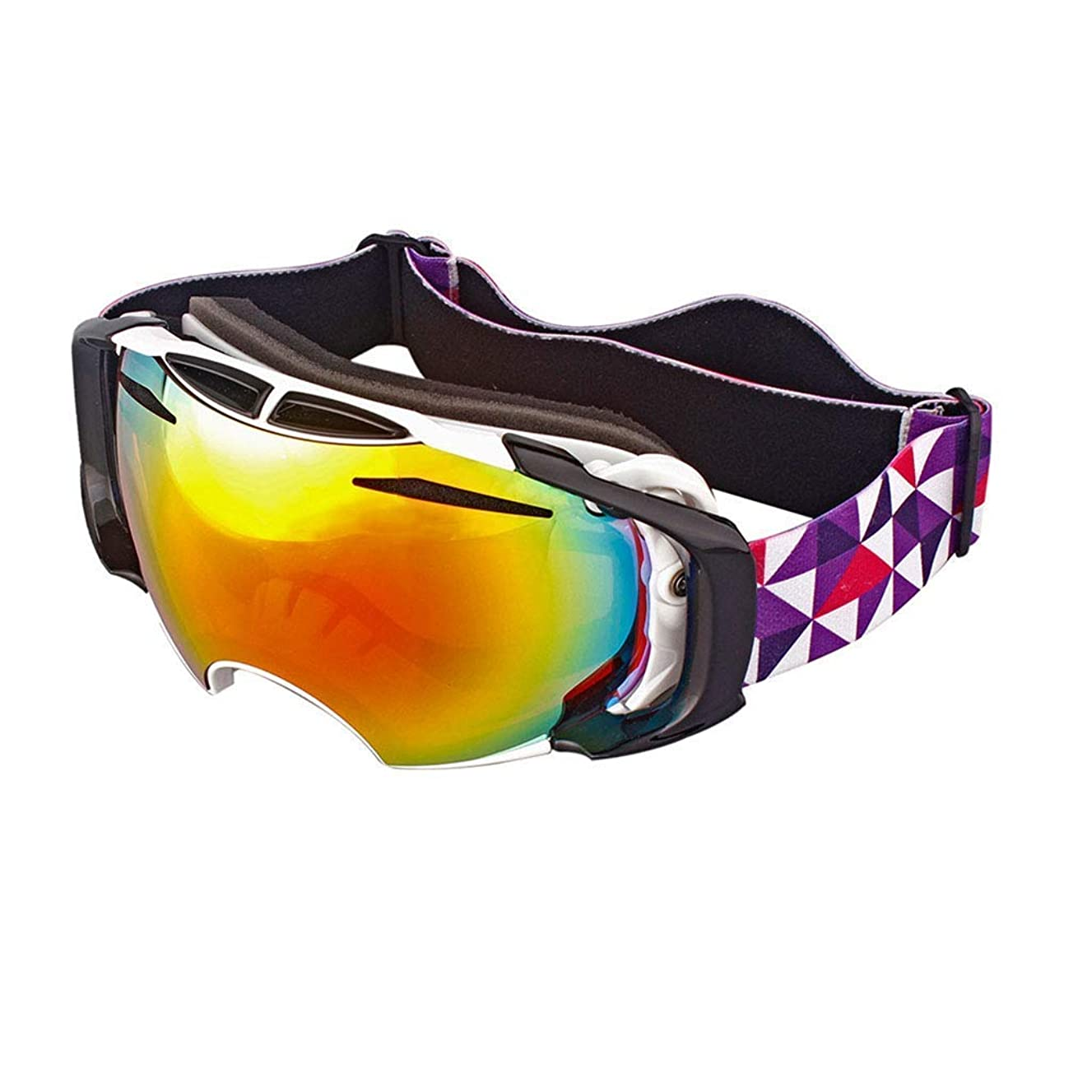 Polymer Exquisite Goggles Ski Goggles Sports Glasses Glasses Professional Double-Layer Anti-Fog Men and Women Large Spherical Ski Goggles - JBP45