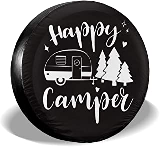 SUV RV Je45if-Q Spare Tire Cover Funny Otter with Pizza Sun Protector Universal Wheel Tire Cover for Trailers Trucks and Many Vehicle,