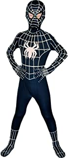 Kids Superhero Cosplay Black Bodysuit