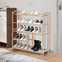 Levede Bamboo Shoe Rack Storage Wooden Organizer Shelf Stand 5 Tiers Layers 80cm