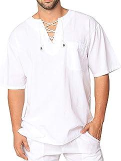 COOFANDY Mens Fashion T Shirt Cotton Tee Hippie Shirts Short Sleeve Beach Yoga Top