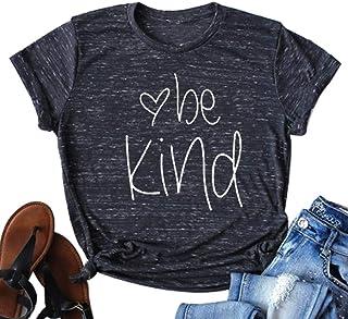 Be Kind Shirt Women Tshirt Casual Short Sleeve Summer Tops Christian T-Shirt Blouse Tee Tops