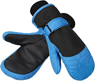 Children's Ski Mittens, Water-Resistant and Windproof, Breathable Ripstop Fabric