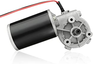 uxcell DC24V 45W 180RPM 3.5N.M Reversible Worm Gear Motor High Torque Speed Reducing Electric Gearbox Motor-JCF63L